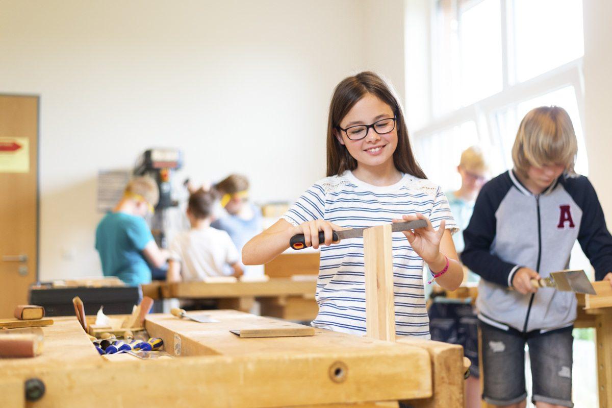 Unterricht in der Privatschule Gymnasium Lüneburger Heide