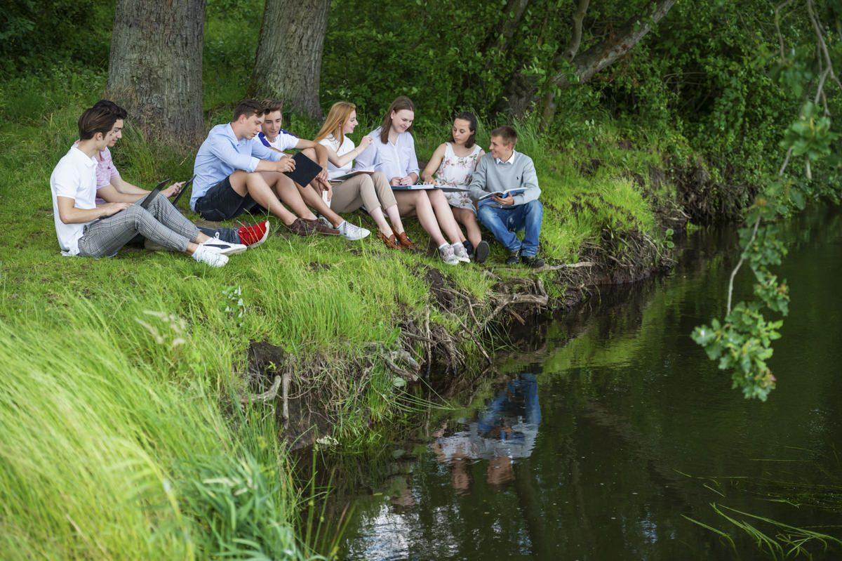 Schüler am Gymnasium Lüneburger Heide